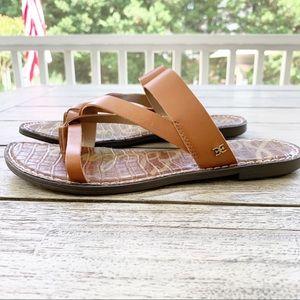 Sam Edelman Gael Brown Leather Sandal size…